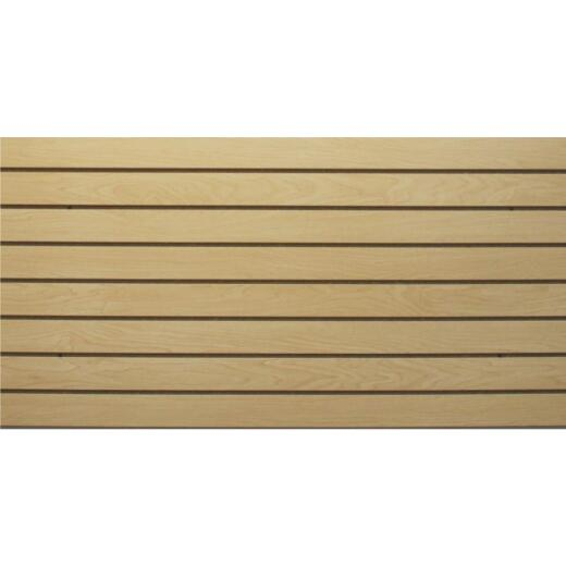 GarageEscape 24 in. x 48 in. Anchor Core Slatwall, Maple