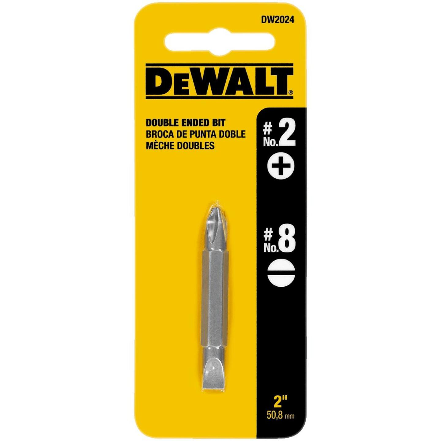 DeWalt Phillips #2 Slotted Double-End Screwdriver Bit Image 1