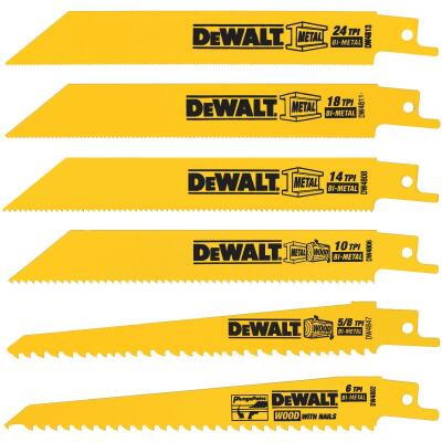 DeWalt 6-Piece Reciprocating Saw Blade Set