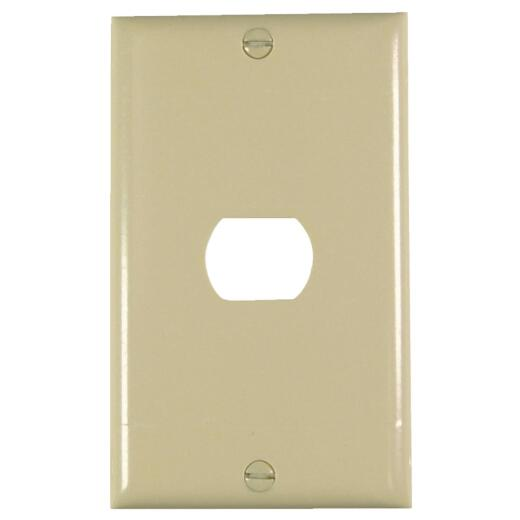 Pass and Seymour 1-Port Ivory Thermoset Ribbed Wall Plate