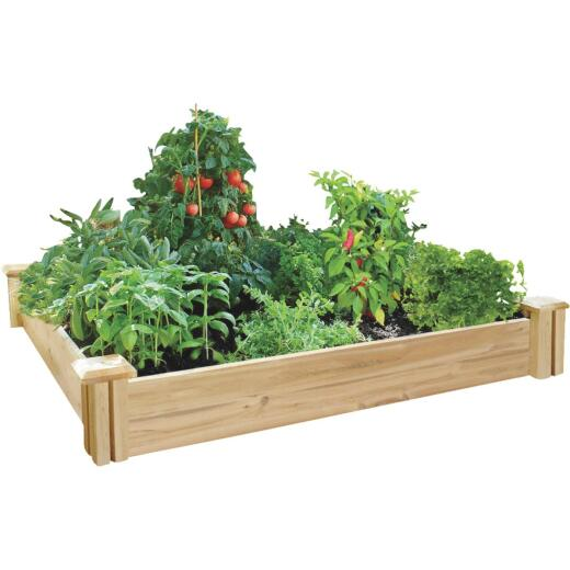 Greenes Fence 4 Ft. W. x 7 In. H. x 4 Ft. L. Stair Step Cedar Raised Garden System