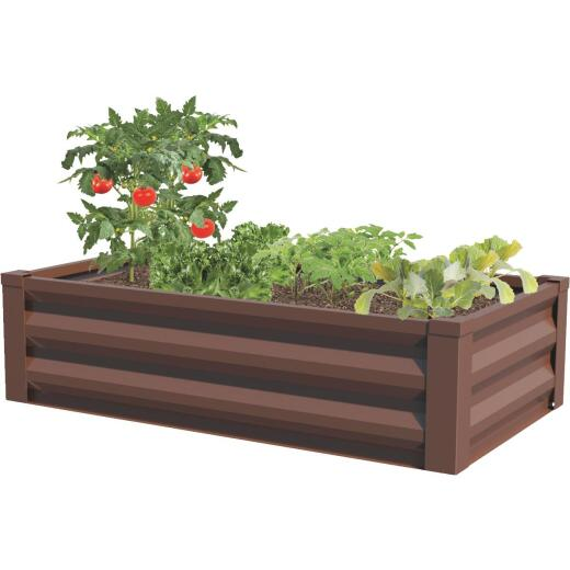Panacea 24 In. W. x 12 In. H. x 48 In. L. Timber Brown Metal Raised Garden System