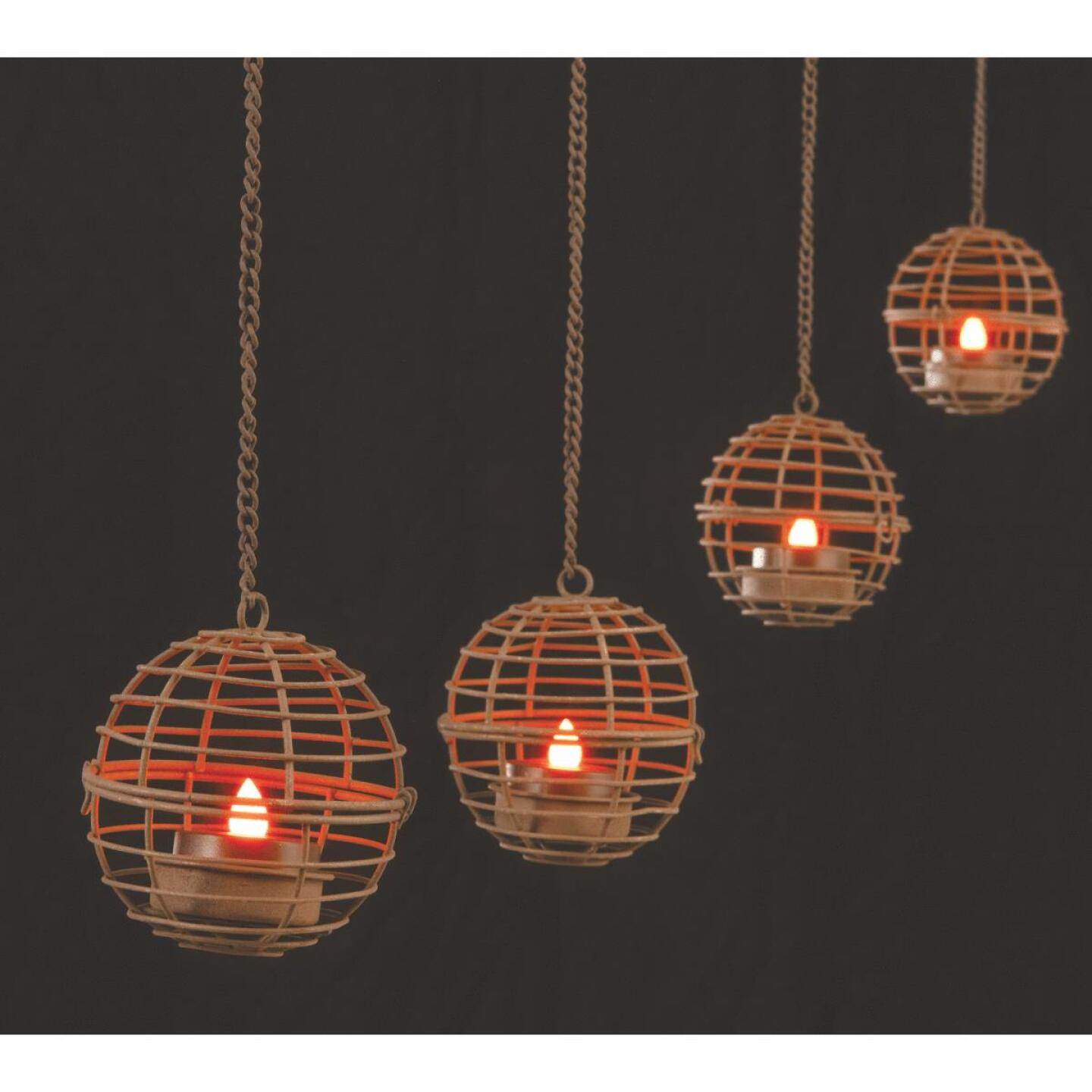 Gerson 4-Light Brown Wire Hanging Fireball Patio Light Set (4-Pack) Image 4
