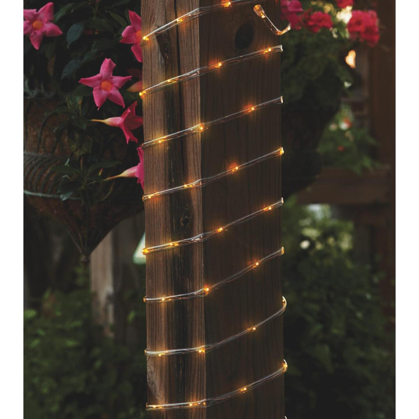 Outdoor Expressions 28 Ft.100-Light LED Warm White Solar Rope Light Image 3